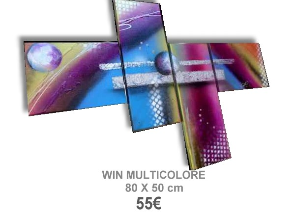 TABLEAU ABSTRAIT WIN MULTICOLORE