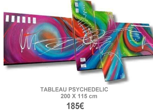 TABLEAU DESIGN PSYCHEDELIC