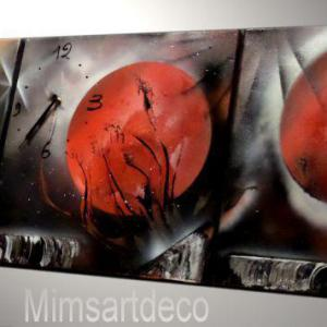 Art painting Aube rouge