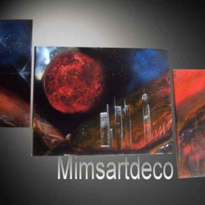 Tableau luna city art painting