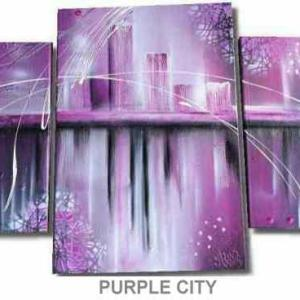 Tableau Abstrait PURPLE CITY