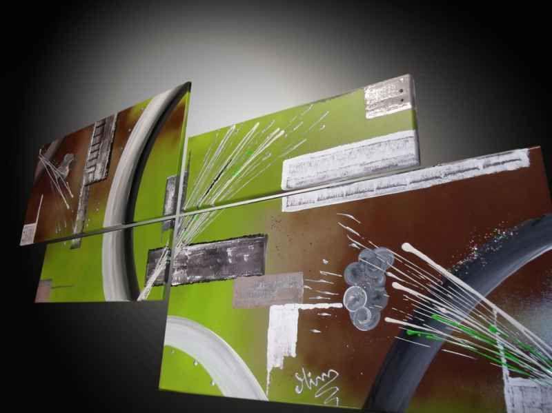 Tableau Moderne Vert Atmosphere